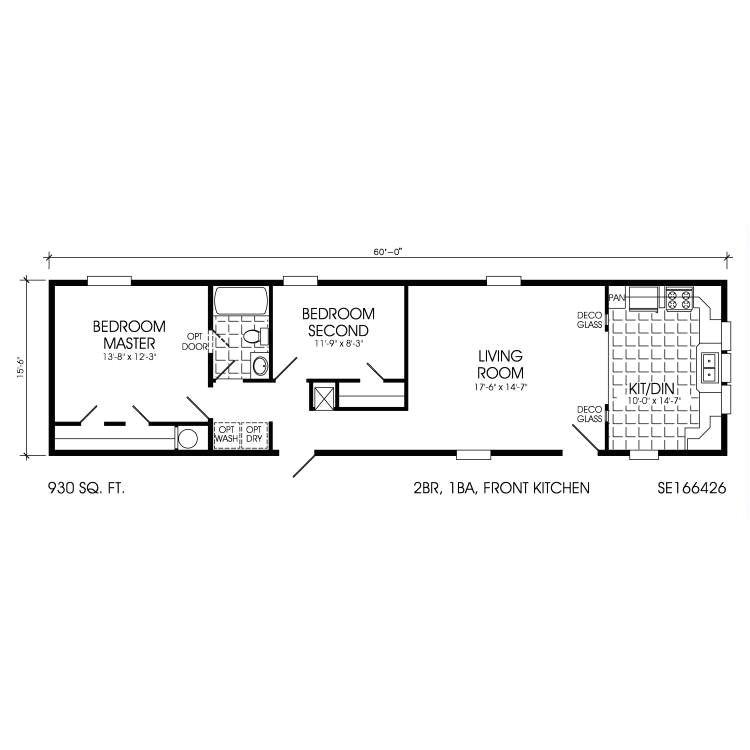 older mobile home floor plans