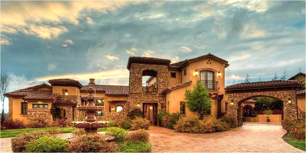 tuscan home plan modern house plans old world style with villa