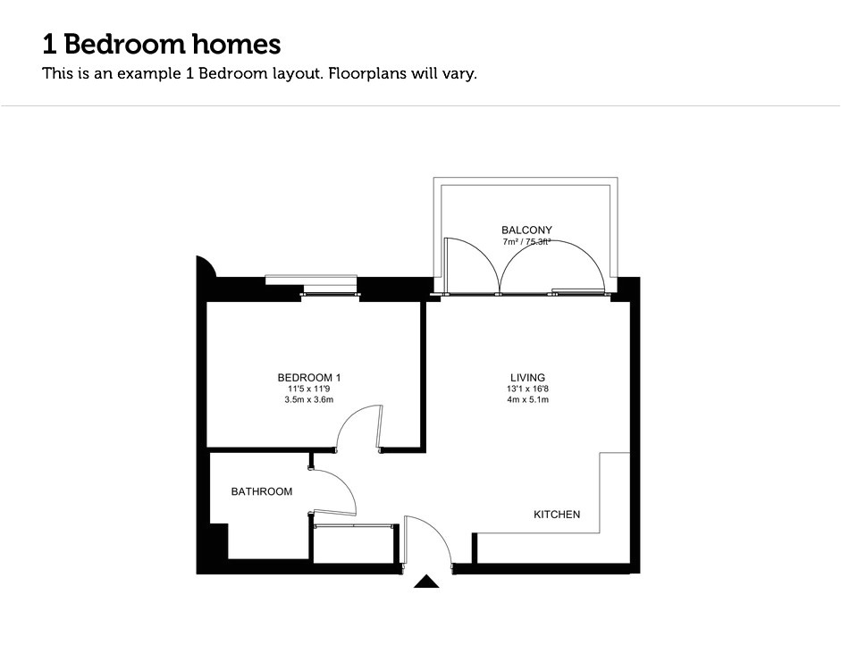 1 bedroom modular home floor plans