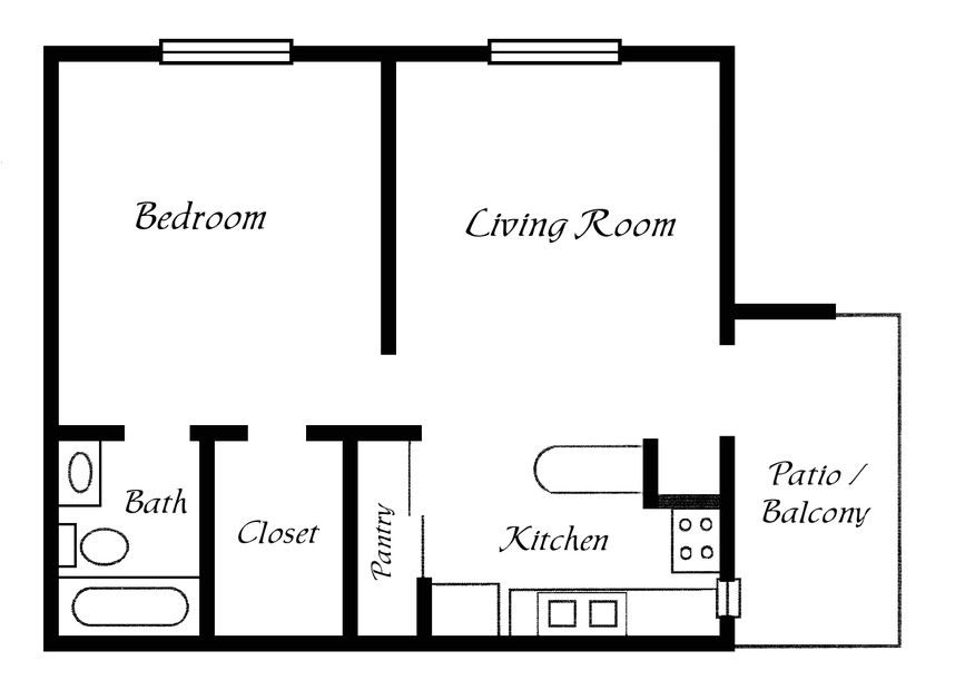 one bedroom trailer floor plans