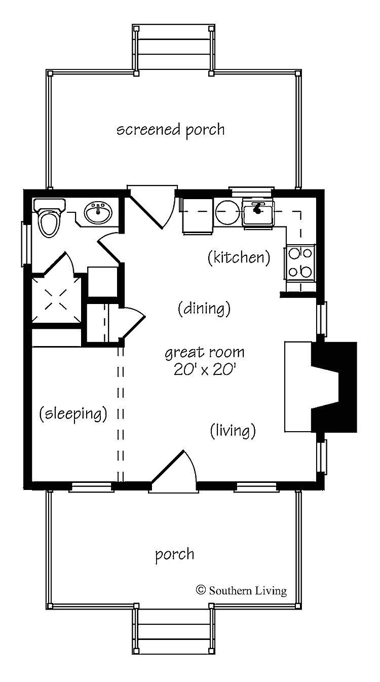 marvelous small one bedroom house plans 9 one bedroom cottage