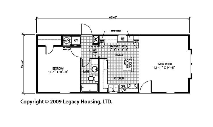 1 bedroom trailer floor plans
