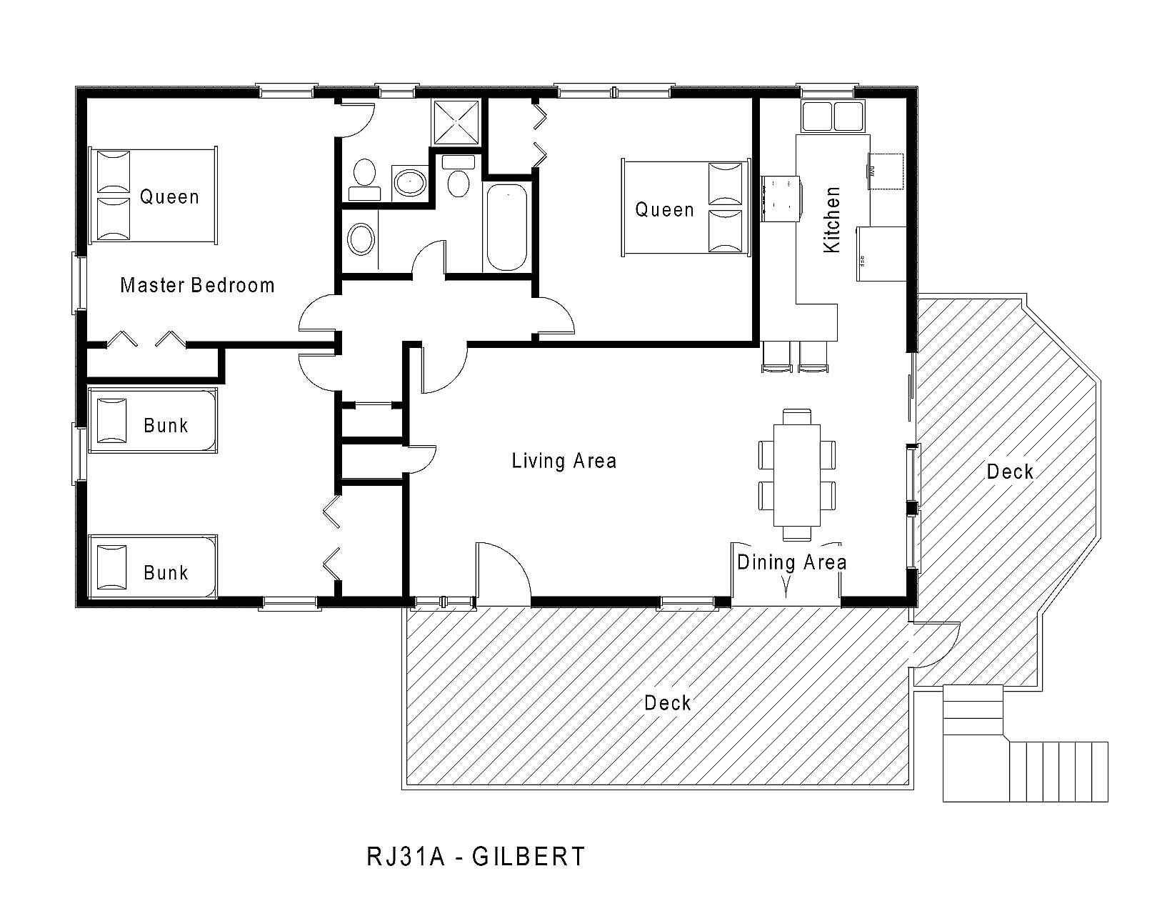 1 story beach house floor plans