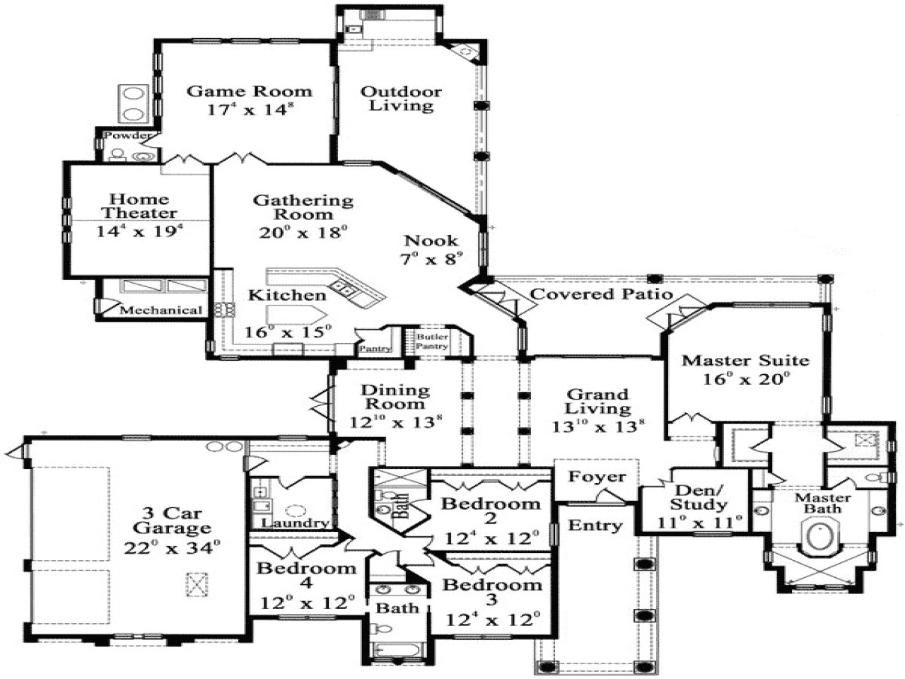0343884532021574 one story luxury floor plans luxury hardwood flooring