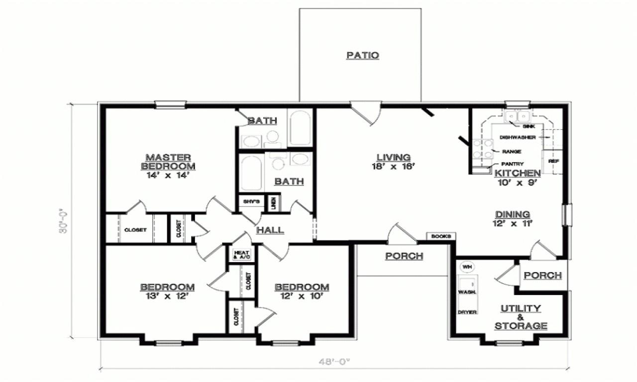 5d695d932e1d0b44 3 bedroom 1 floor plans simple 3 bedroom house floor plans