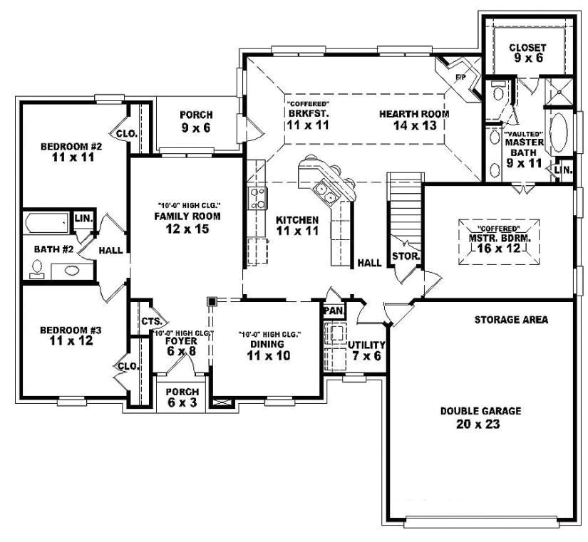 365776800955962475 Single Story Open Floor Plans One Story 3 Bedroom 2 From  One Floor House Plans ...