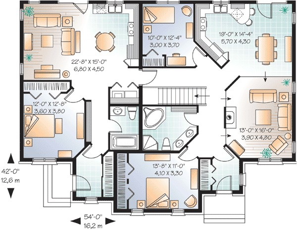 house plan with in law suite 21766dr