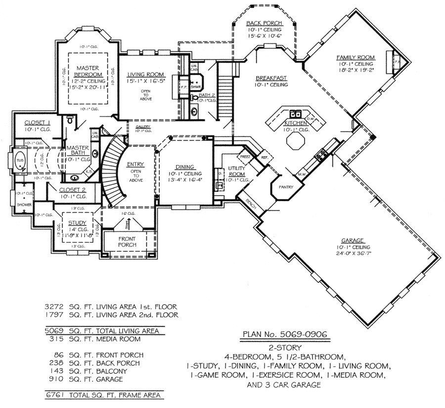 home plans with three car garage
