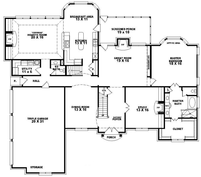 One Level House Plans with Bonus Room 653617 2 Story French Traditional Home with 4 Bedrooms
