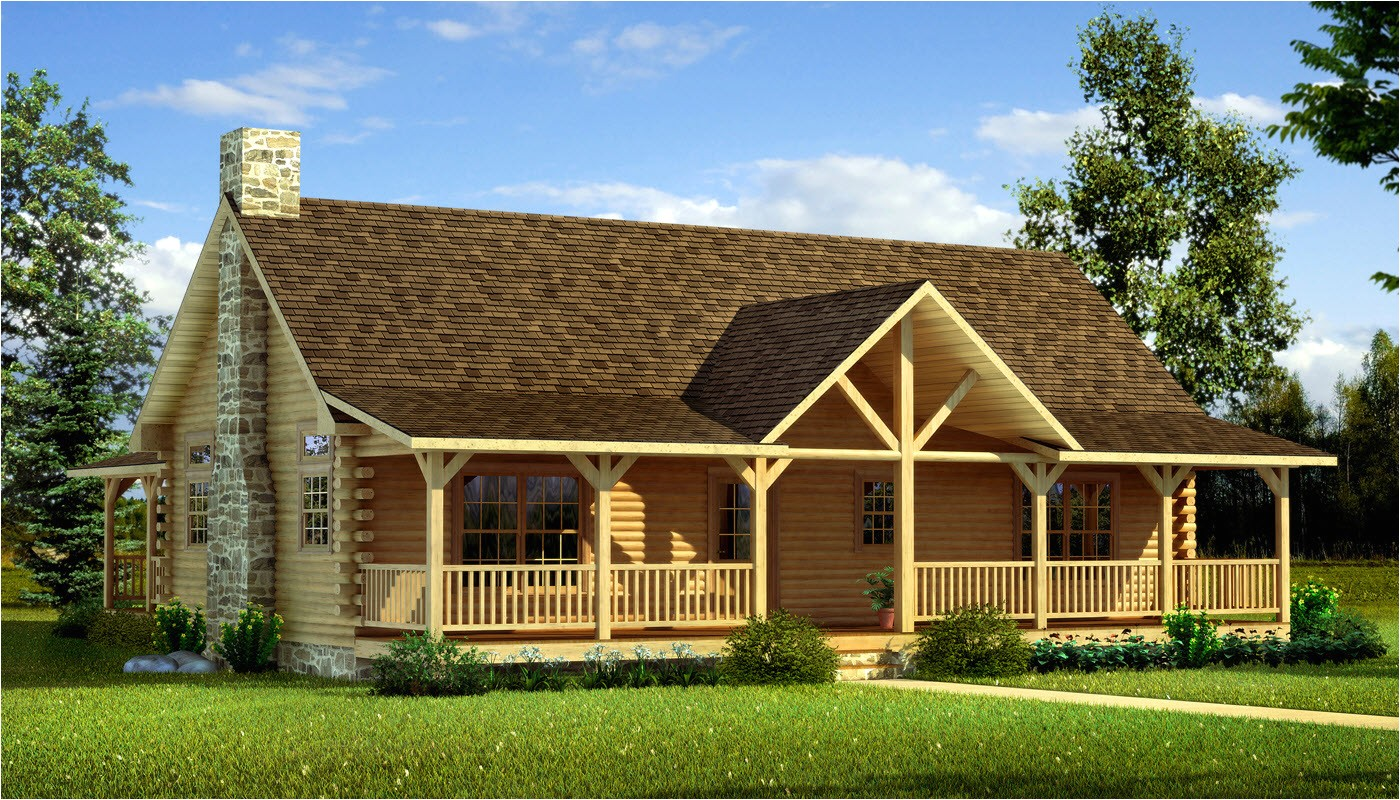 One Level Log Home Plans Danbury Plans Information southland Log Homes