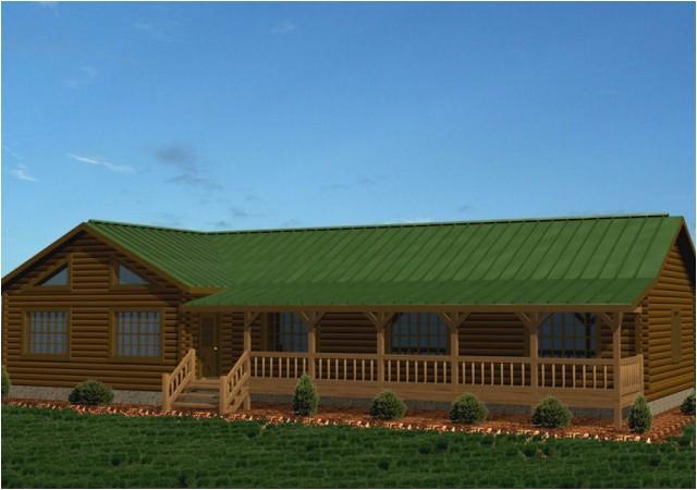 single story log homes floor plans kits