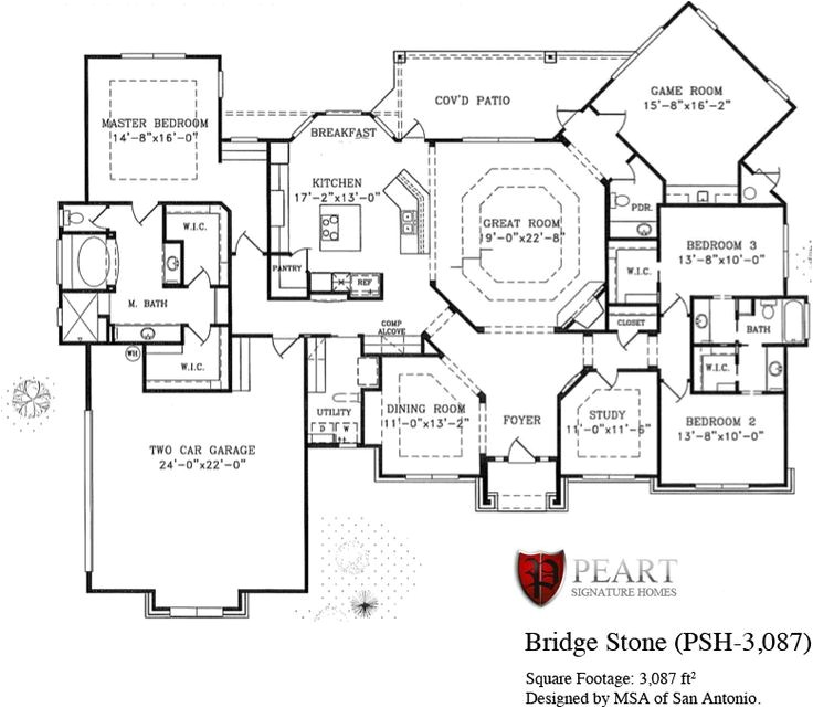 custom home floor plans texas