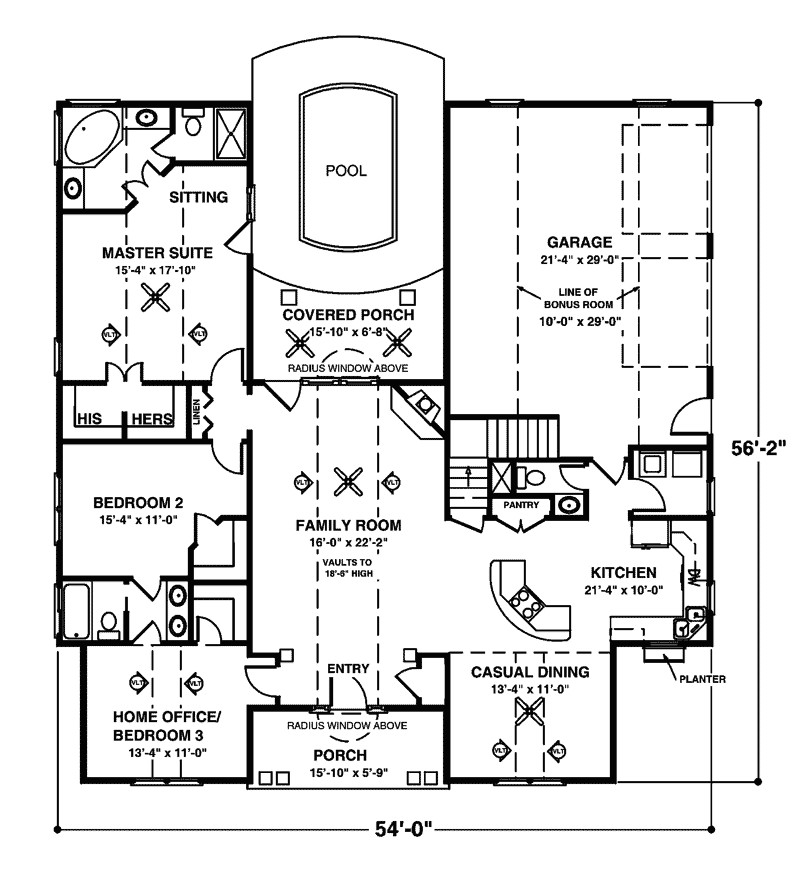house plans single story with loft