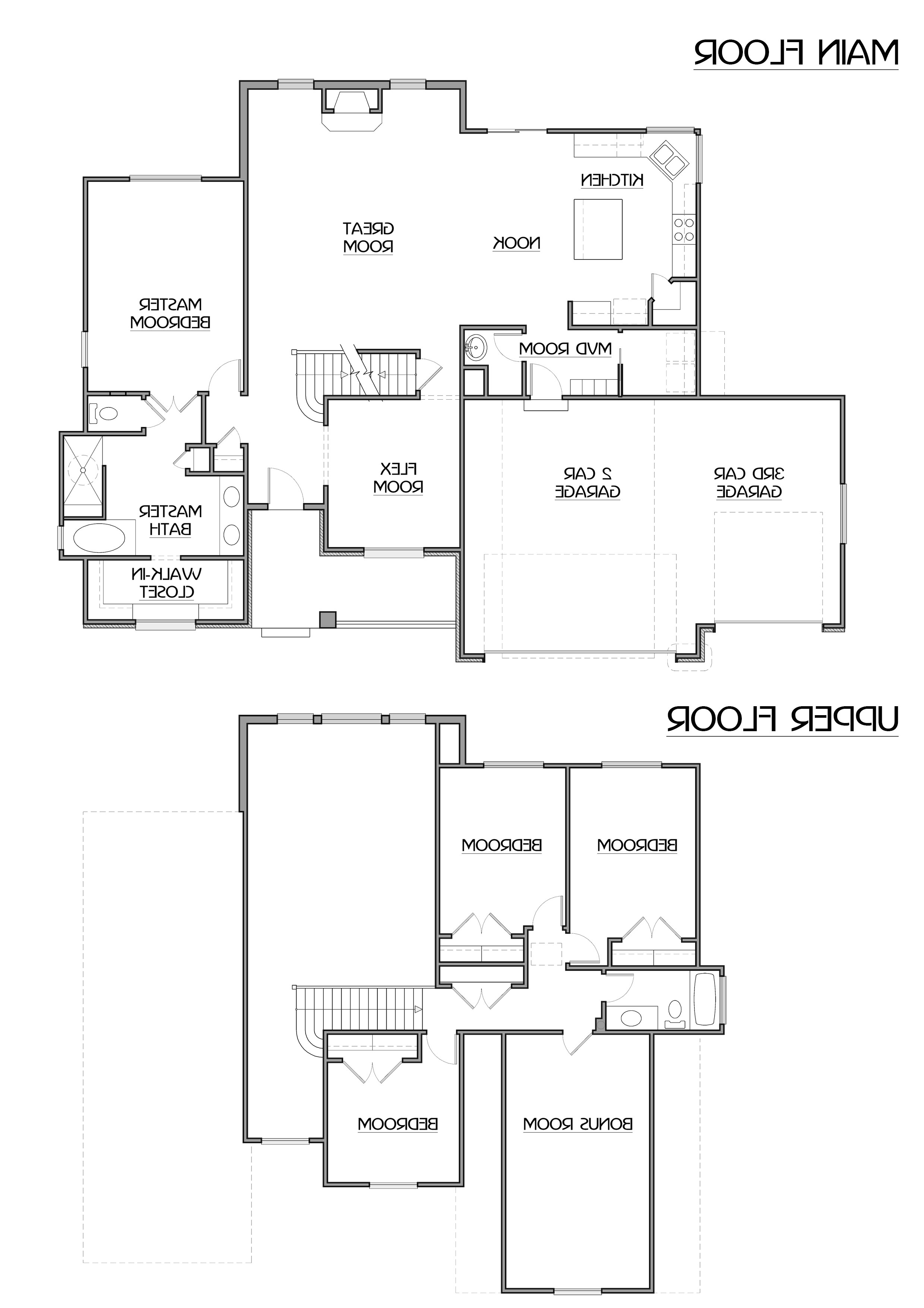1 story house plans with bonus room