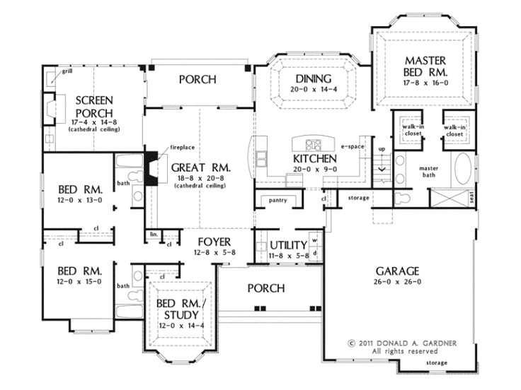 one story house plans with bonus room above garage