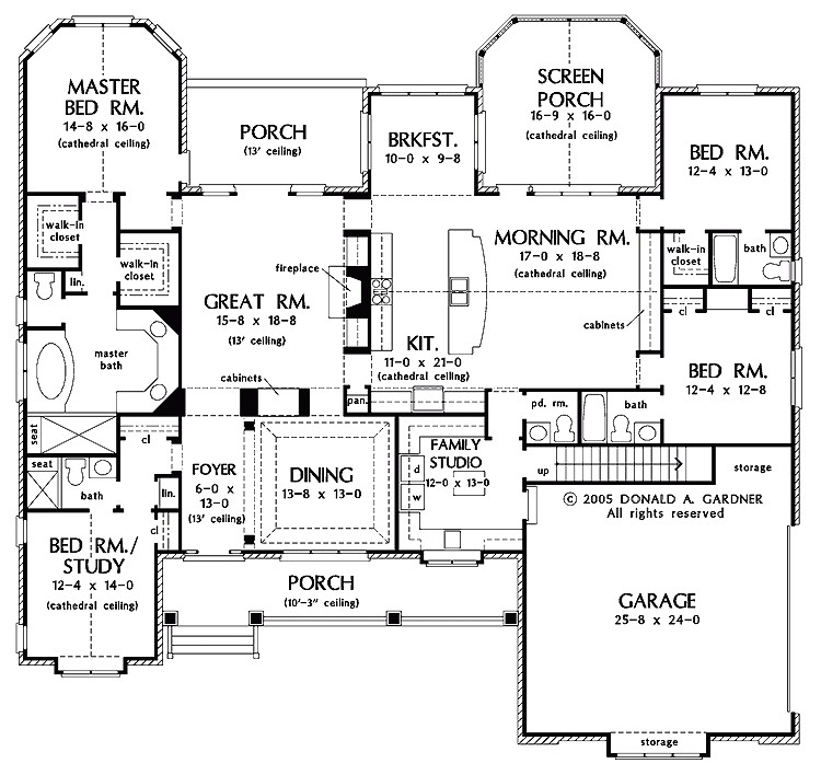 one story luxury home floor plans