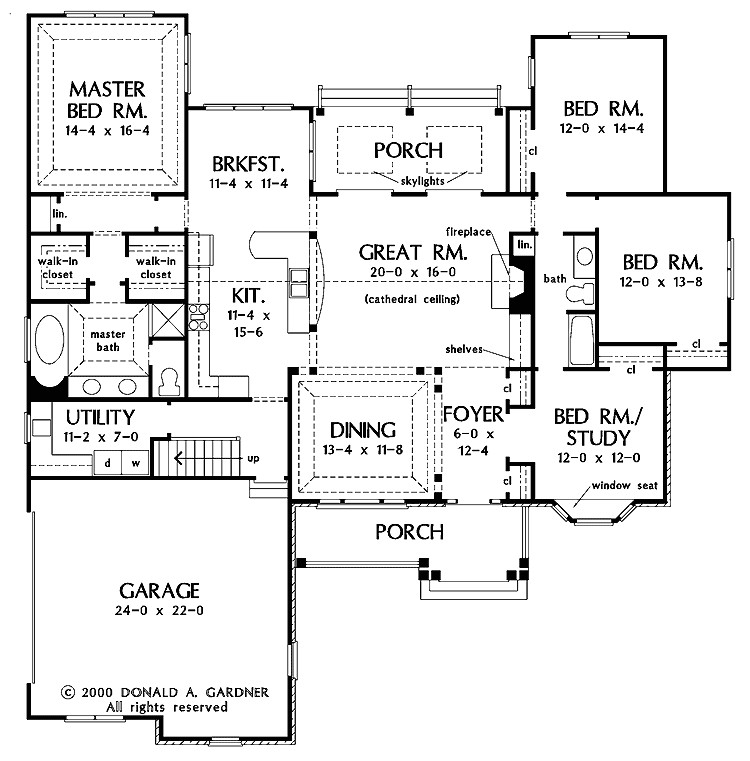 Open area House Plans One Story Open Floor Plans with 4 Bedrooms Generous One