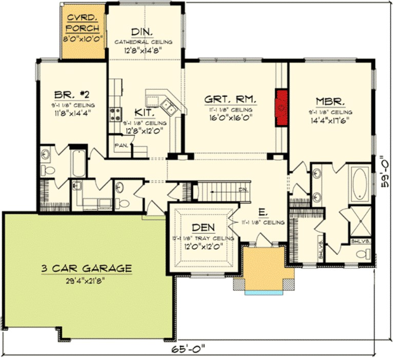 open concept house plans one story