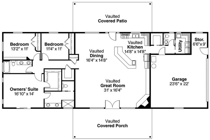 ranch floor plans