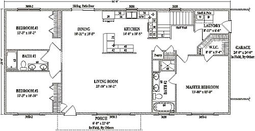 Open Concept Ranch Home Floor Plans Jamestown Iv by Wardcraft Homes Ranch Floorplan Manse