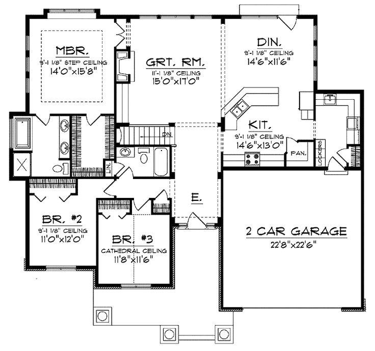 Open Concept Ranch Home Floor Plans Open Concept Floor Plan for Ranch with Spacious Interior