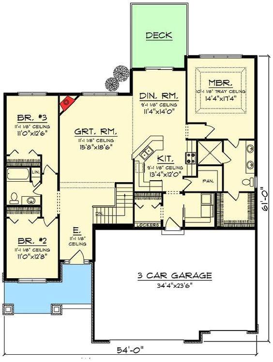 Open Concept Ranch Home Floor Plans Open Concept Floor Plans Craftsman Ranch and Open Concept