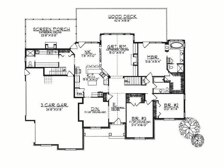 ranch home plans open concept
