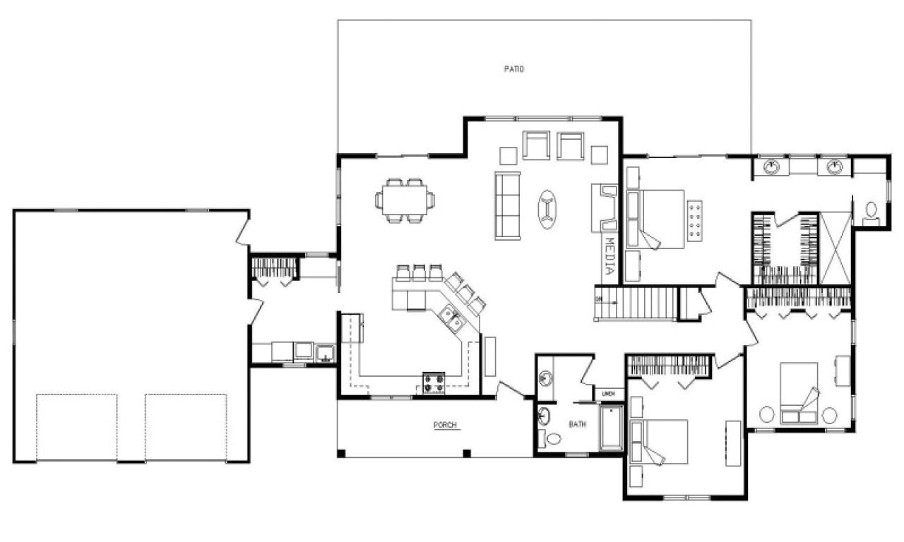 338b7b4a604e7575 ranch open floor plan design open concept ranch floor plans