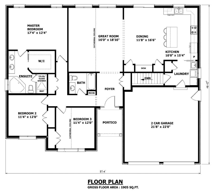 Open Floor House Plans with No formal Dining Room 1905 Sq Ft the Barrie House Floor Plan total Kitchen
