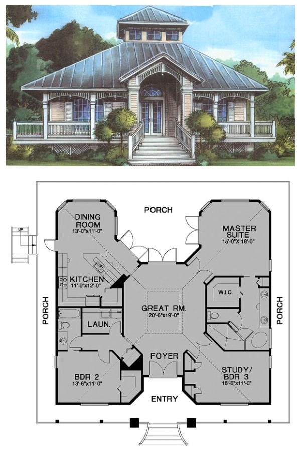 florida cracker style cool house plan id ch