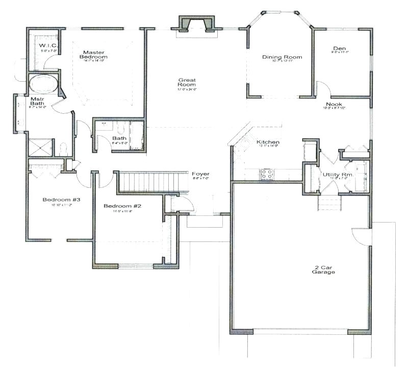 ranch style house plans with open floor plan