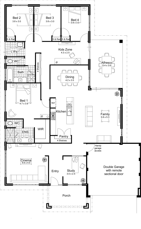 home kits cabin plans floor plan pool house garage guest new open modular homes architecture open floor plan design ideas