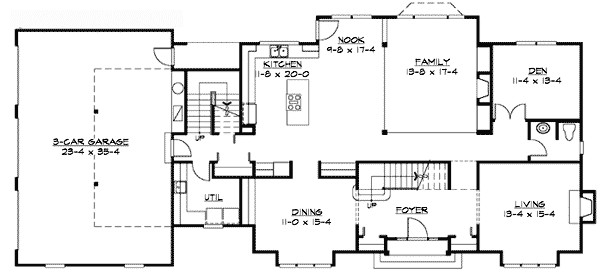 traditional colonial home plan 23309jd