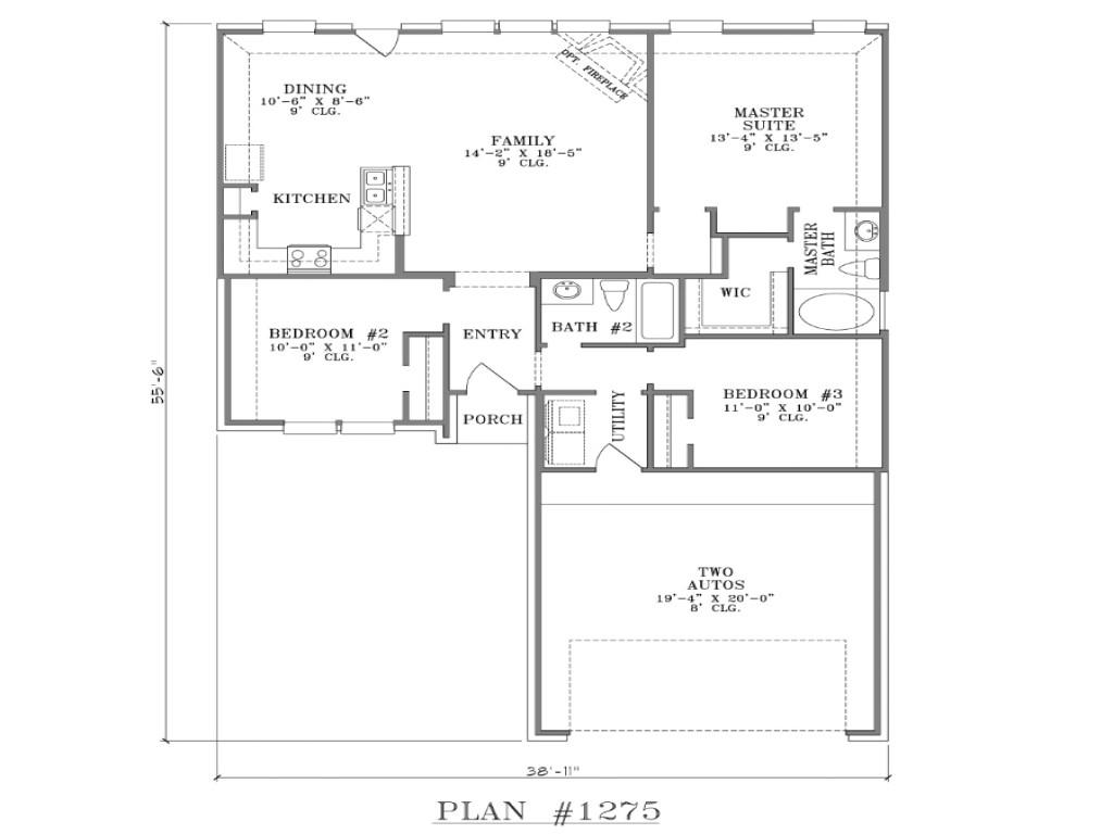 660d98f7152efcad ranch house floor plans open floor plan house designs