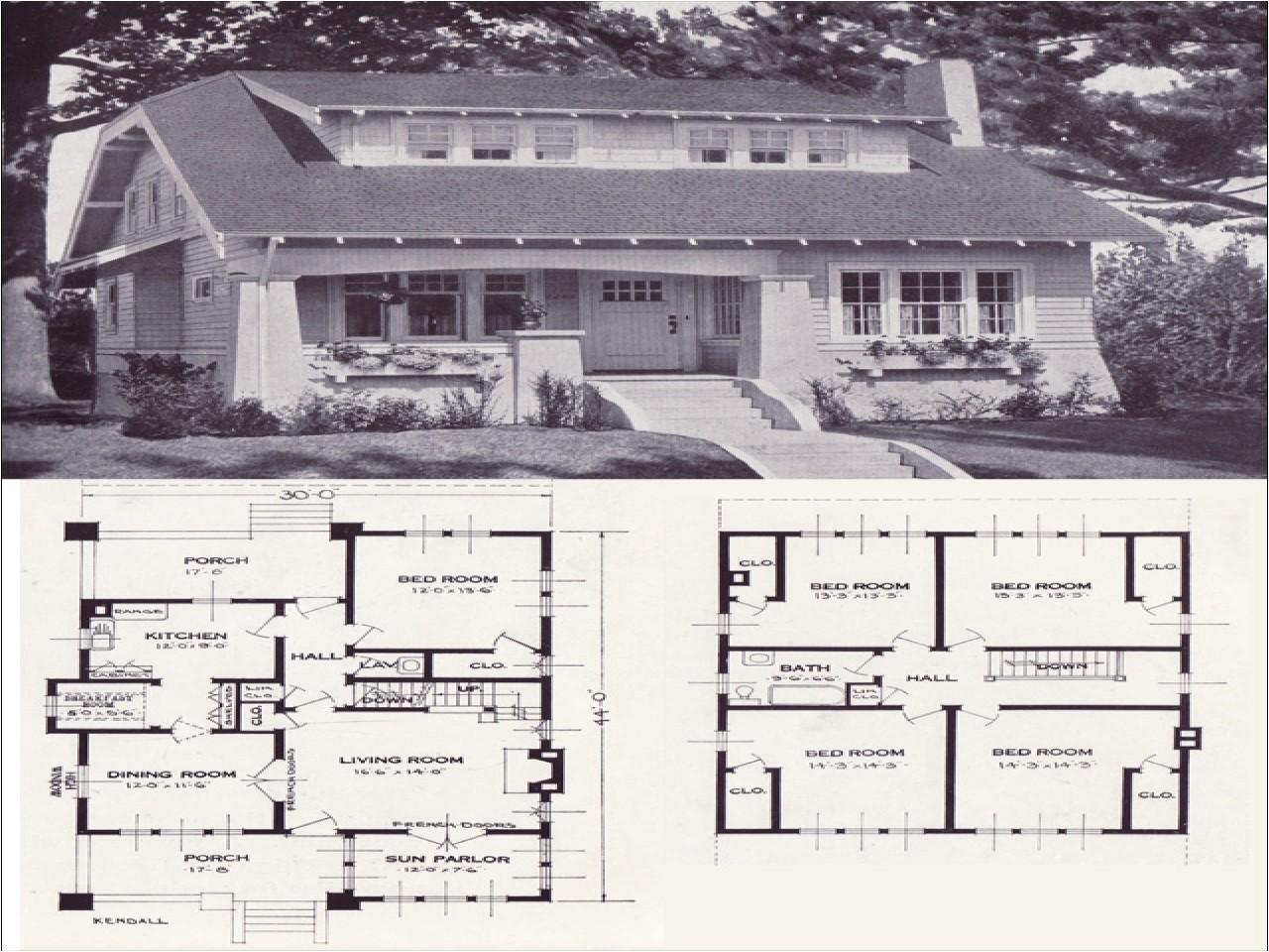 82374c00e10d584e original craftsman plans 1920 1920 bungalow house plans