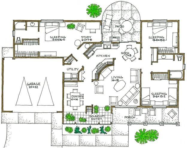 architectural house plans passive solar