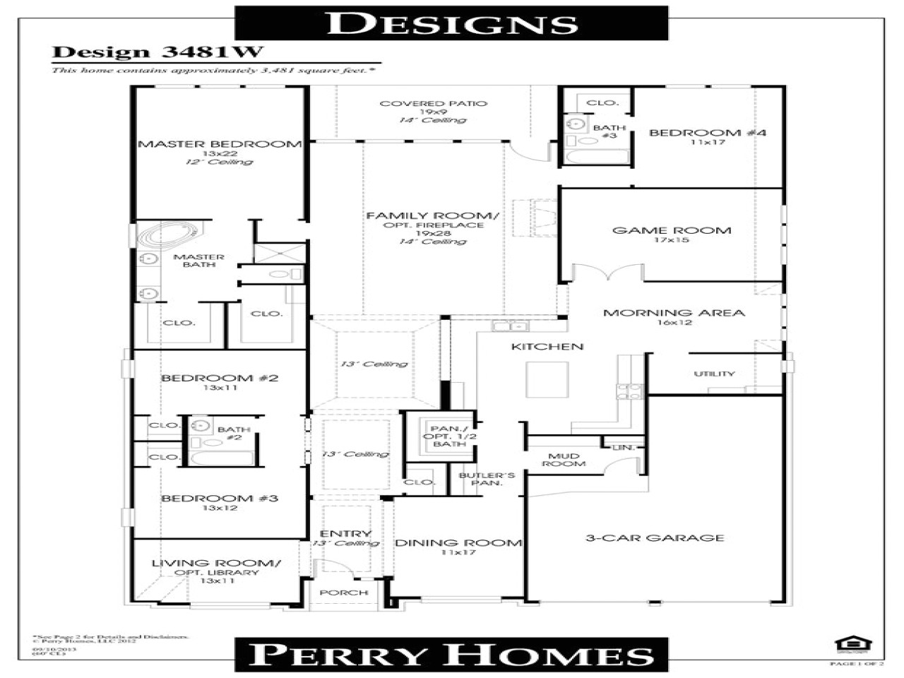 Perry Homes Floor Plans Open Floor Plans Small Home Perry Homes Floor Plans Dream