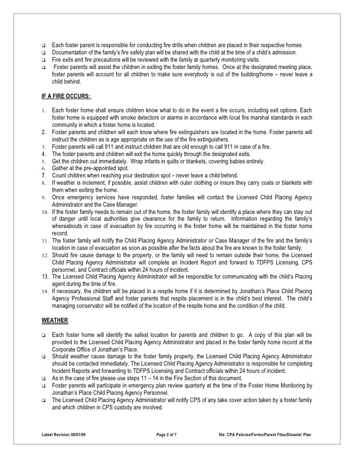 personal evacuation plan template care homes