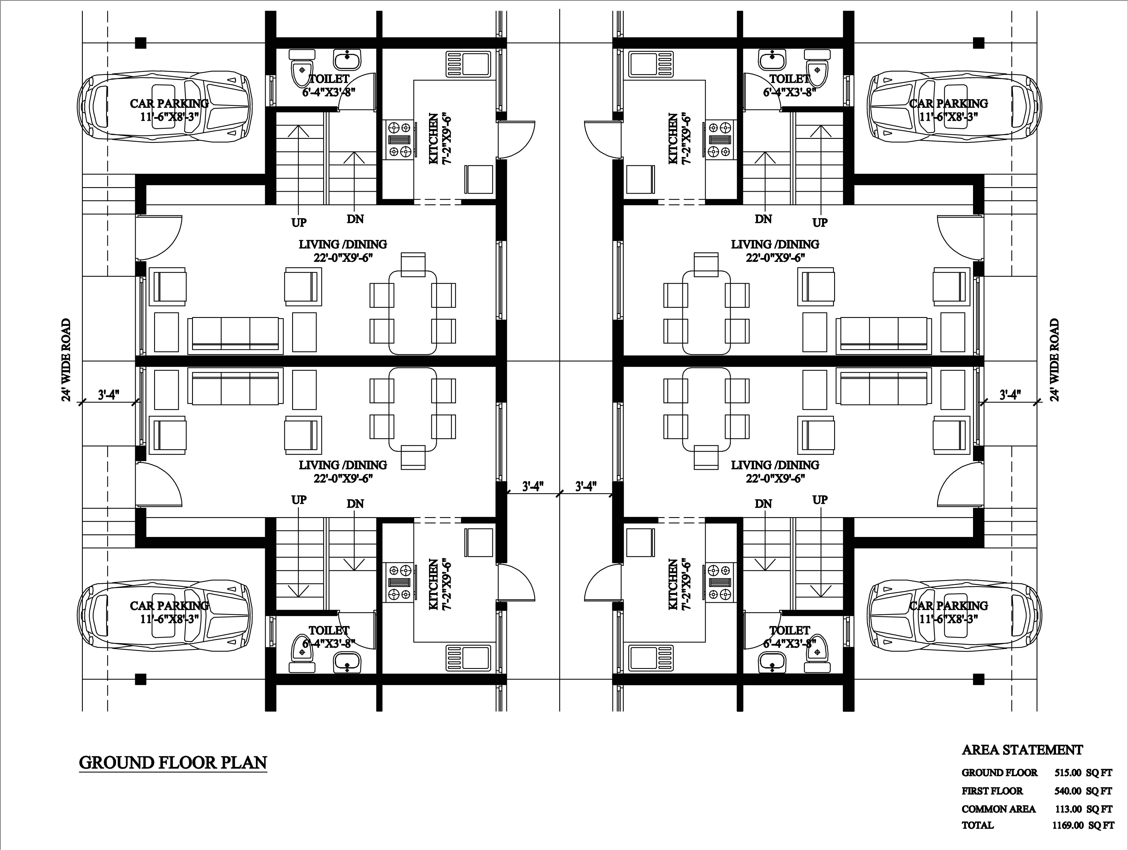 philadelphia row home floor plan