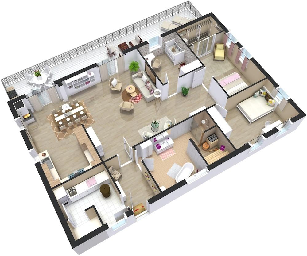 Plan 3d Home Home Plans 3d Roomsketcher