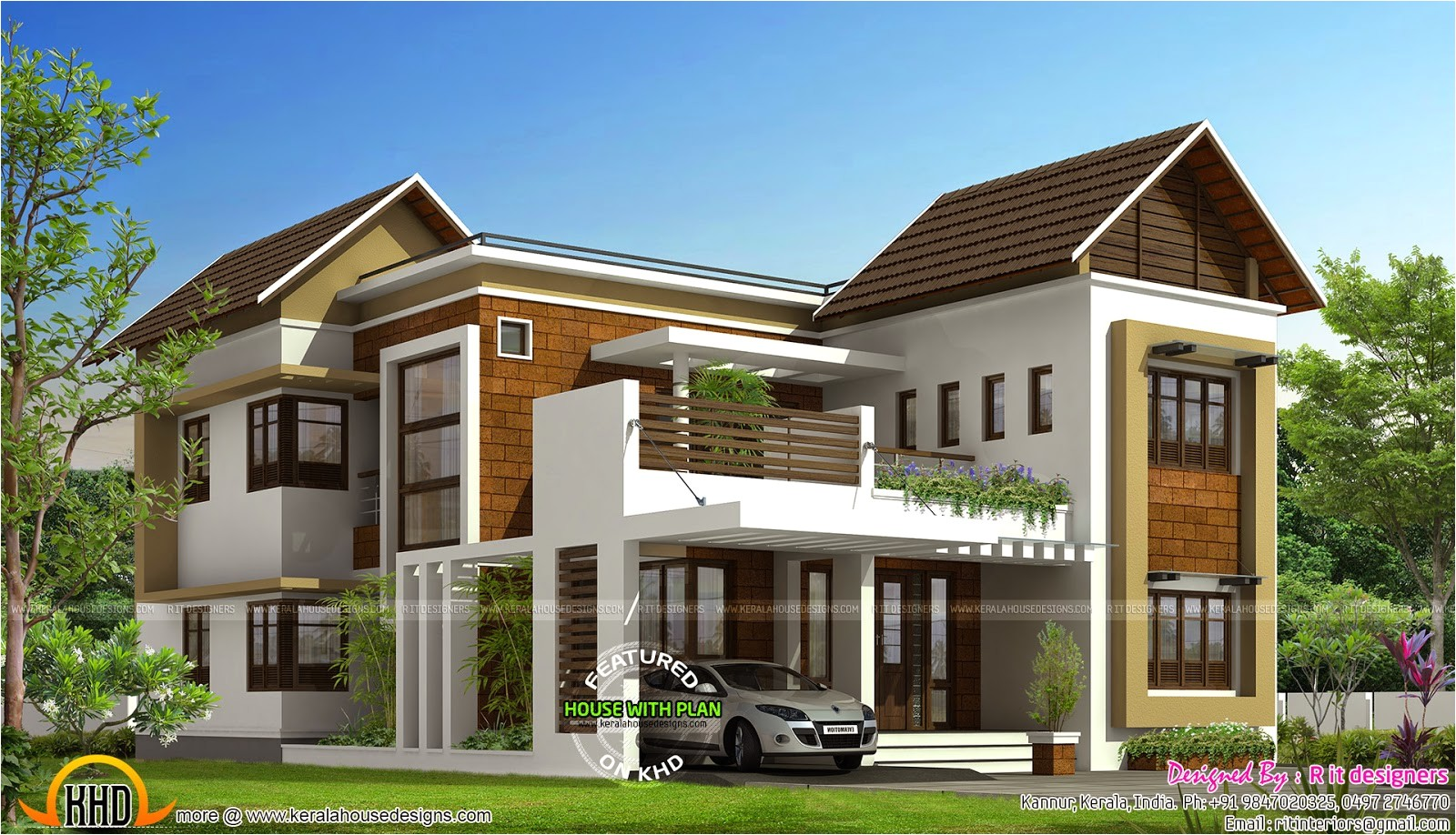 flat roof house design by sachink