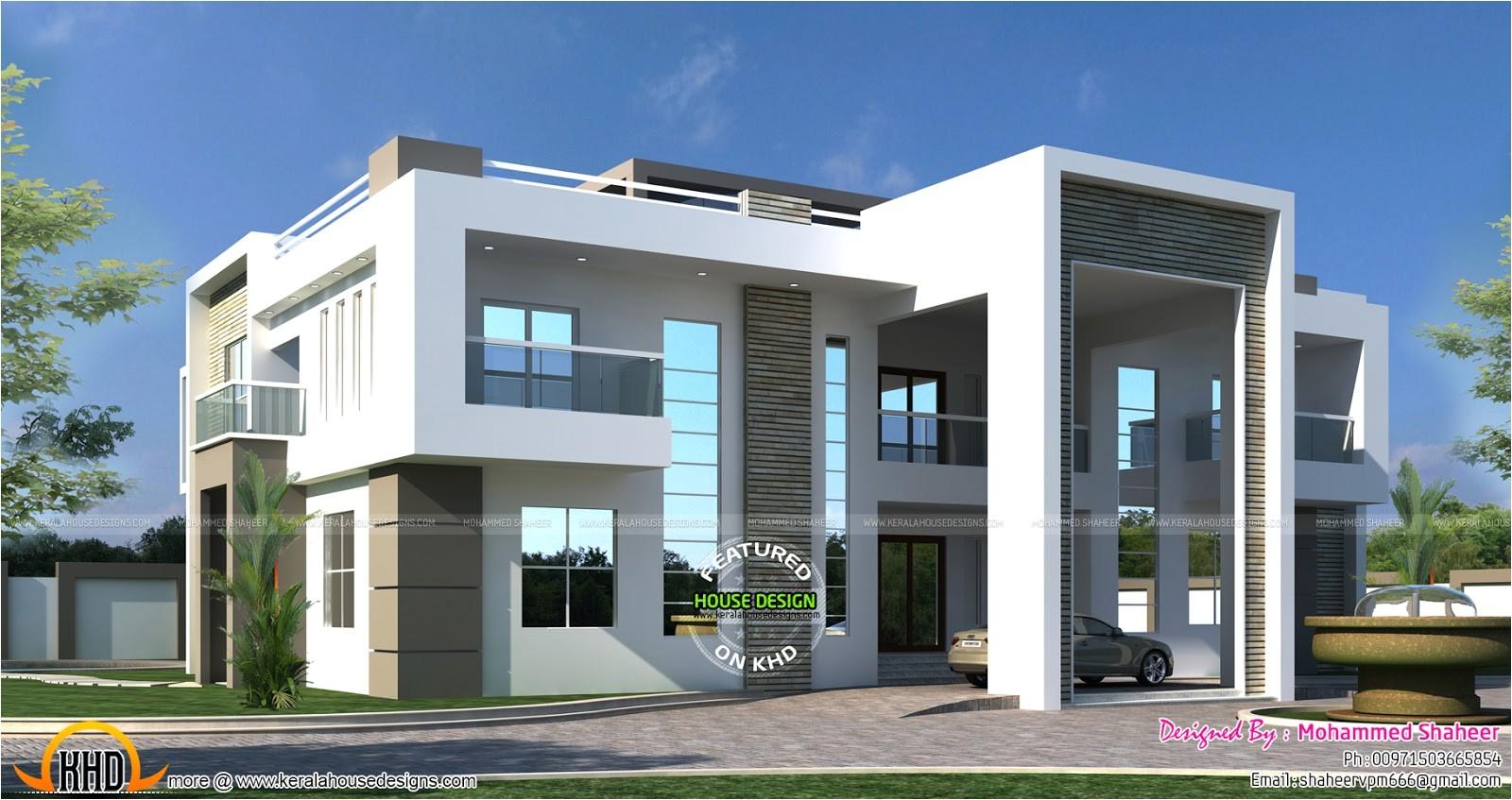 flat roof arabian house plan