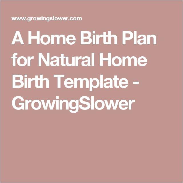 birth plan sample