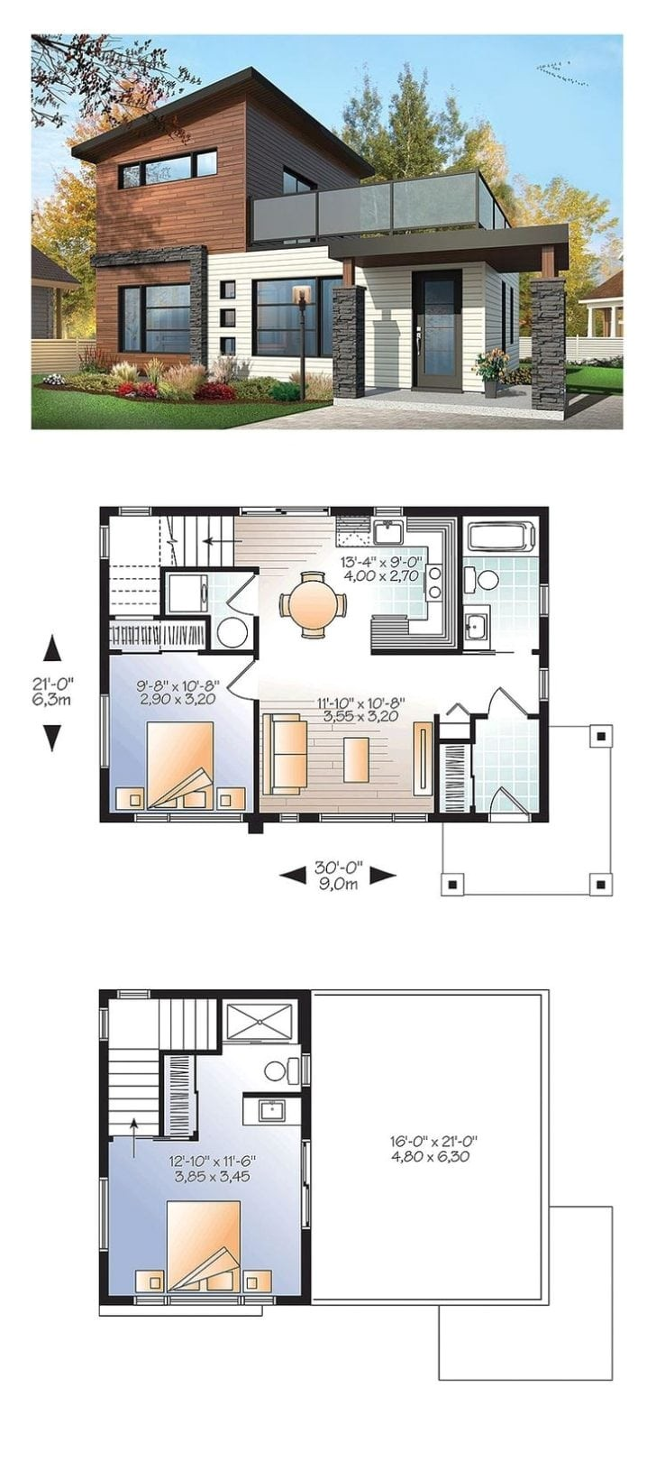 modern houses plans with photos