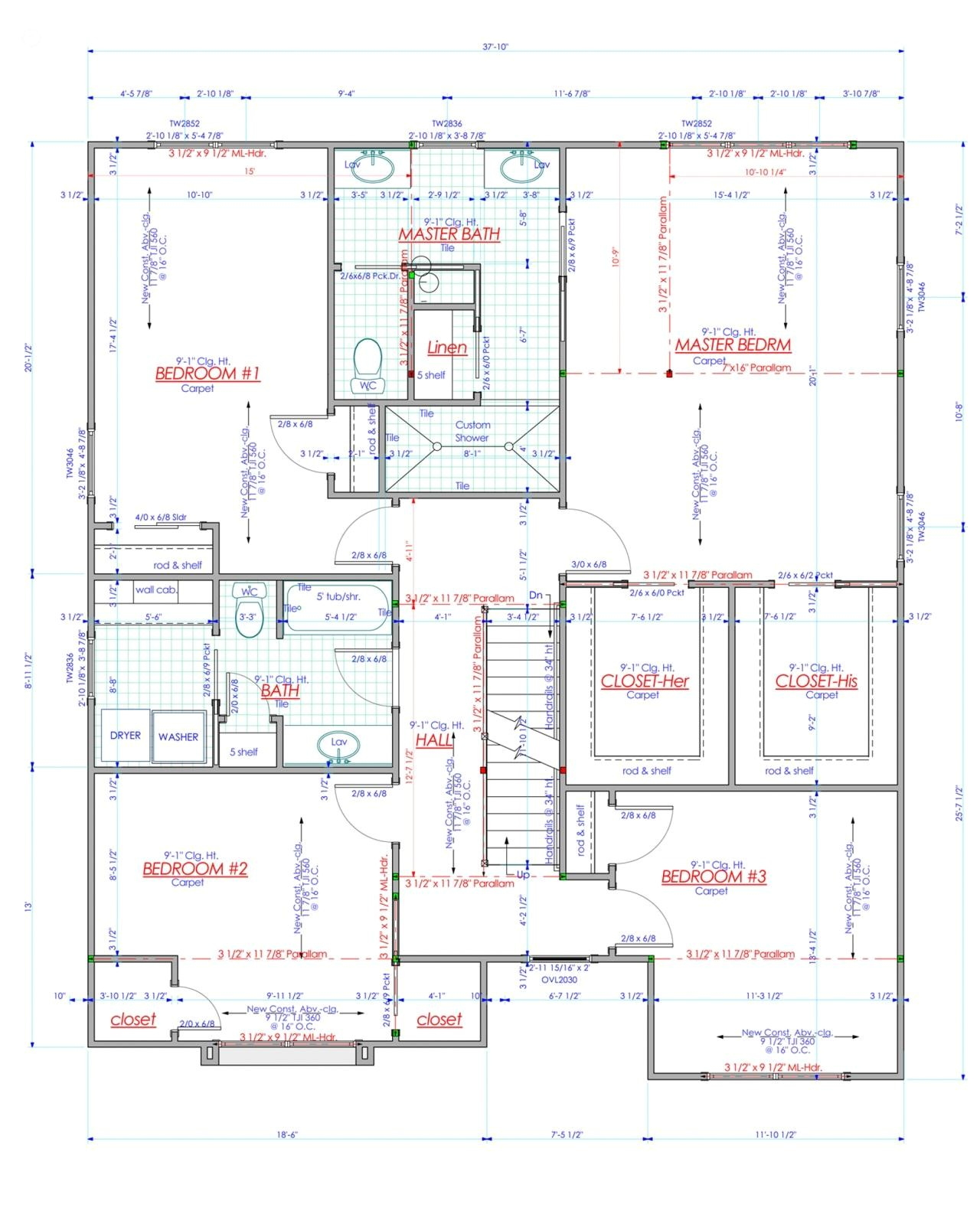 new house construction plans