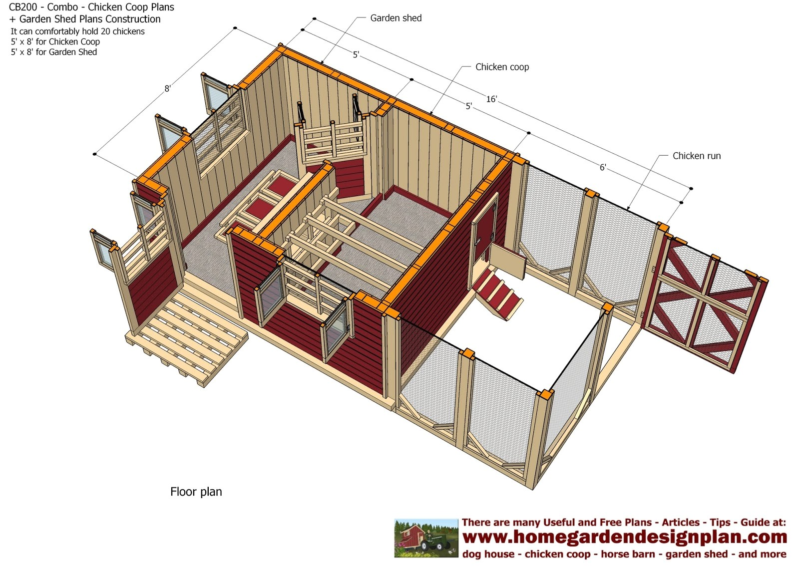 cb200 combo plans chicken coop plans