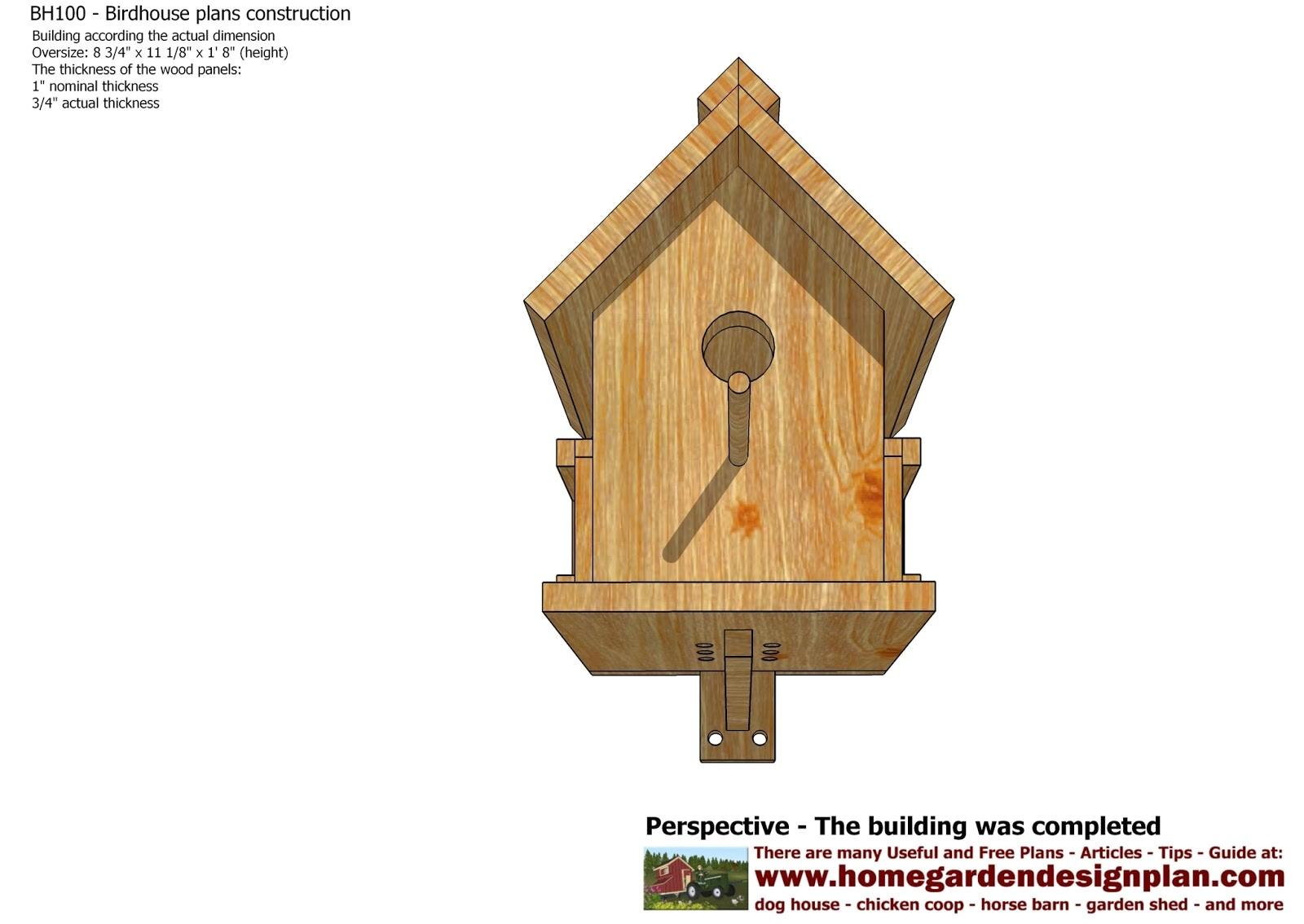 bh100 bird house plans free free bird