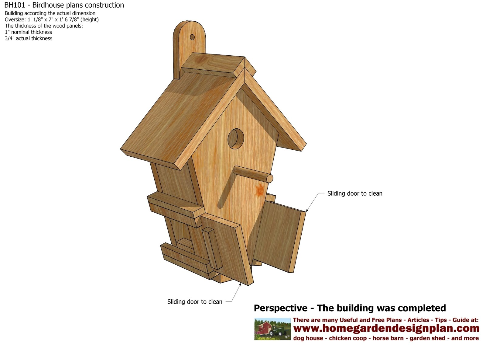 bh101 bird house plans construction