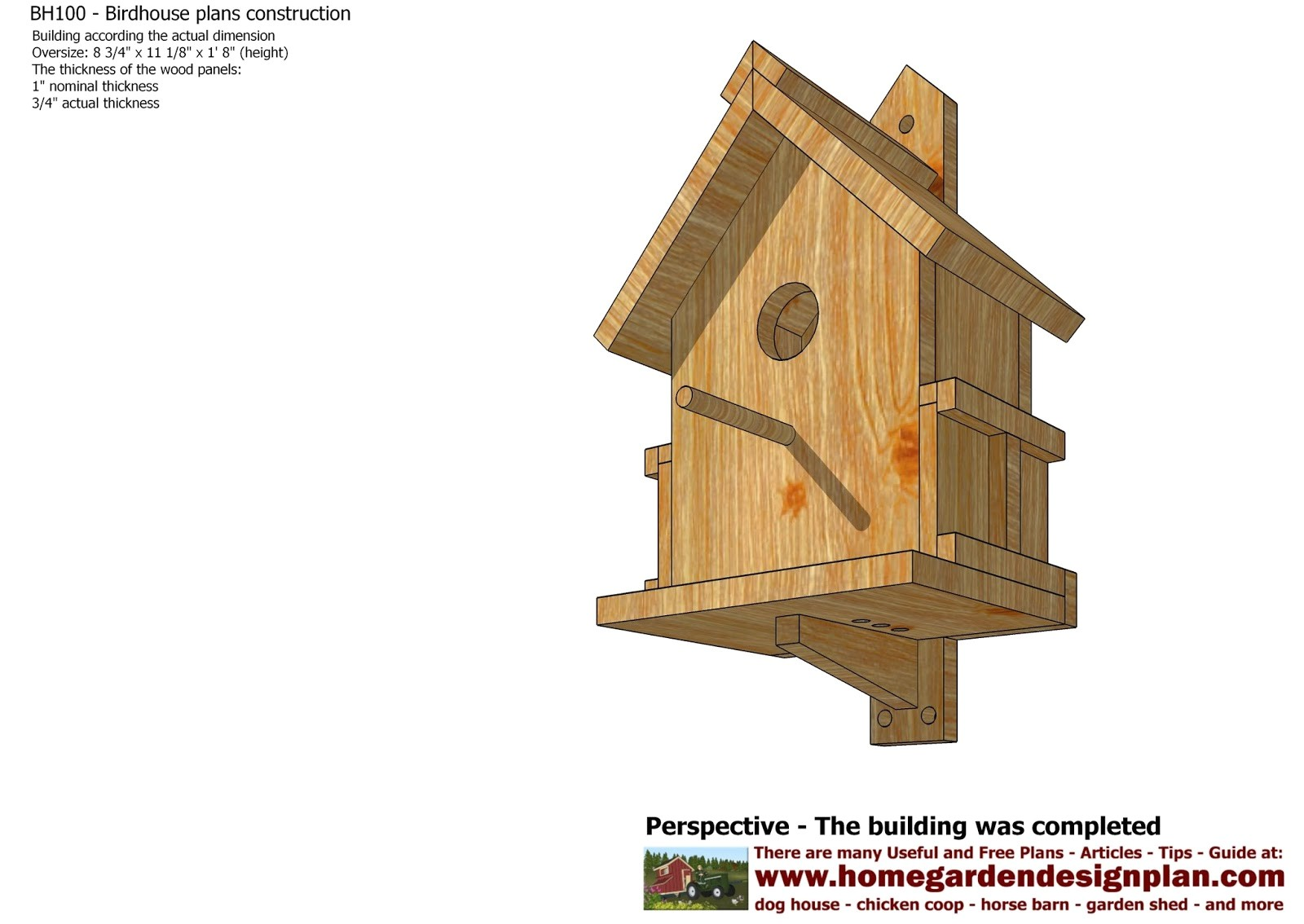 how to make bird table plans