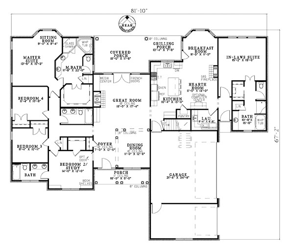 house plans with attached mother in law apartment